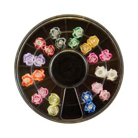 Star Nails 3D Diamante Rose Wheel Pack of 24