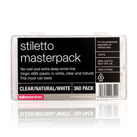 Salon Services Stiletto Tips Masterpack Pack of 360