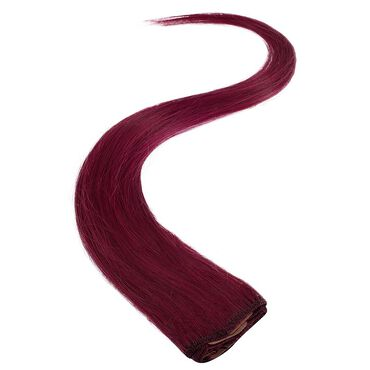 Wildest Dreams Clip In Single Weft Human Hair Extension 18 Inch - 530 Red Riot