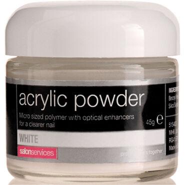 Salon Services Acrylic Powder White 45g