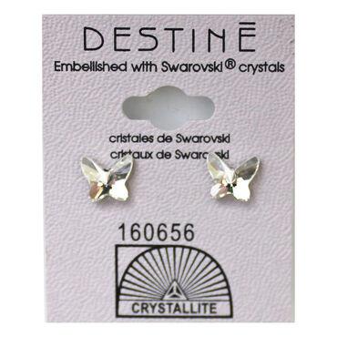 Crystallite Large Butterfly Stud Earrings