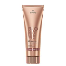 Schwarzkopf Professional BlondMe Tone Enhancing Bonding Shampoo - Rich Caramel 250ml