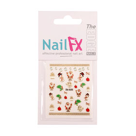 The Edge Nail FX Christmas Foil Nail Stickers - Deck the Halls