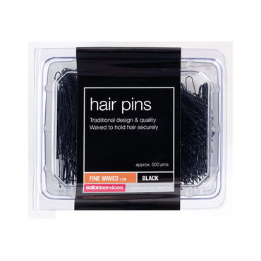 Salon Services Fine Waved Pin Black Pack of 1000