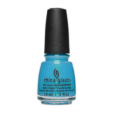 China Glaze Shades of Paradise Collection Nail Lacquer Mer-Made For Bluer Waters 14ml
