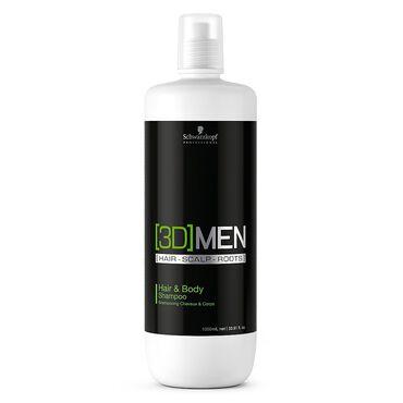 Schwarzkopf Professional 3D Men Hair and Body Shampoo 1 Litre
