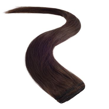 Wildest Dreams Clip In Half Head Human Hair Extension 18 Inch - 2 Brownest Brown