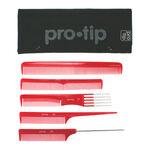 Pro Tip 5 Piece Comb Set in Mesh Wallet