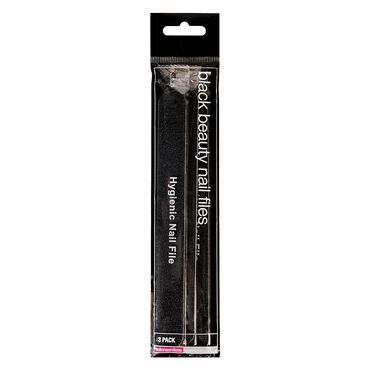 Salon Services 180/180 Beauty Nail Files Black Pack of Three