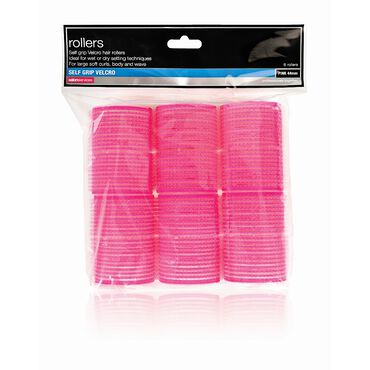 Salon Services Core Essentials Self Grip Rollers Pink 44mm Pack of 6