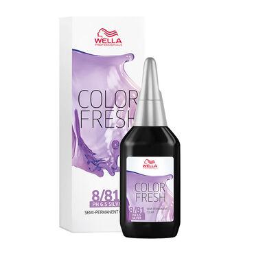 Wella Professionals Colour Fresh Semi Permanent Hair Colour - 8/81 Light Pearl Ash Blonde 75ml