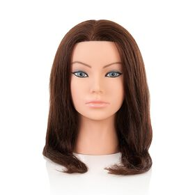 Salon Services Emily Brunette Manikin Training Head 14-18 Inch