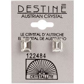 Crystallite Square Cut Ear Studs 8mm