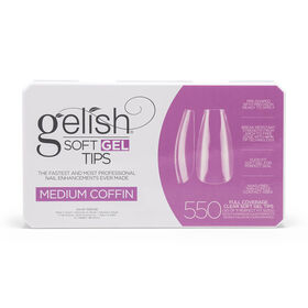 Gelish Soft Gel Tips - Medium Coffin, Pack of 550