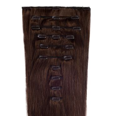 Wildest Dreams Clip In Full Head Human Hair Extension 18 Inch - 4 Mocha Brown