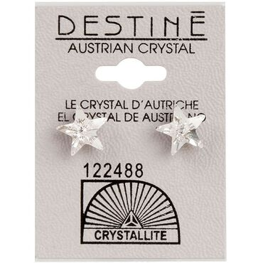 Crystallite Star-shaped Ear Studs 10mm
