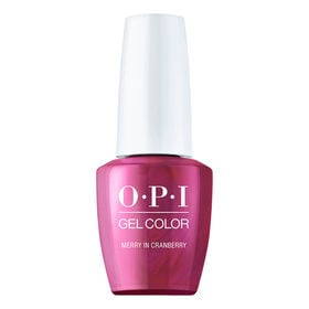 OPI Shine Bright Christmas Collection Gel Color Merry in Cranberry 15ml