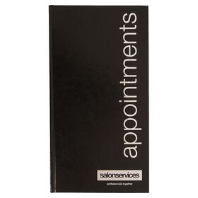 Salon Services Three Assistant Appointment Book Black