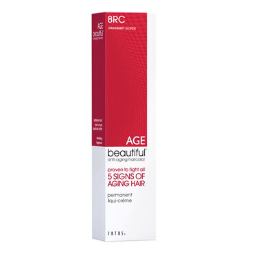 AGEbeautiful Permanent Hair Colour - 8RC Strawberry Blonde 60ml