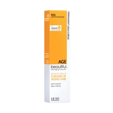 AGEbeautiful Permanent Hair Colour - 9G Light Golden Blonde 60ml