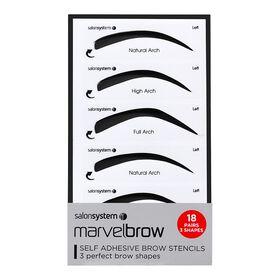 Marvelbrow Self Adhesive Brow Stencils 18pck