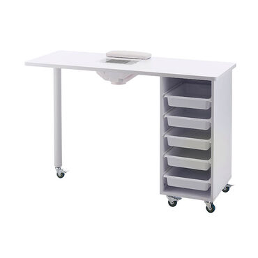 S-PRO Nail Station with Extractor Fan, White
