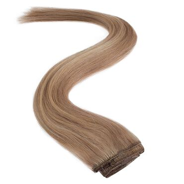 Wildest Dreams Clip In Half Head Human Hair Extension 18 Inch - 22/14 Sunkissed Blonde Blend