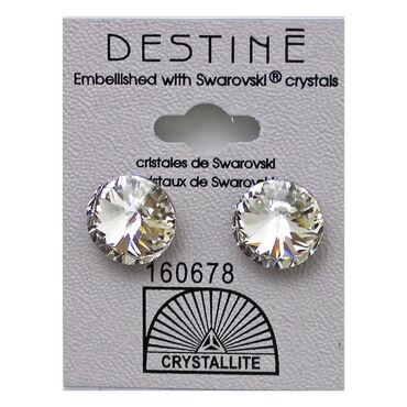 Crystallite Rivoli Stud Earrings, 12mm