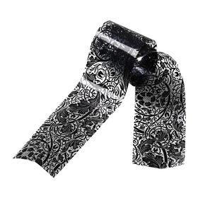 Star Nails Metallic Wrap Black Lace