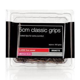 Salon Services Classic Hair Grips 5cm Brown pack of 500
