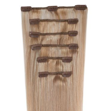 Wildest Dreams Clip In Half Head Human Hair Extension 18 Inch - 24/27 Shimmering Blonde