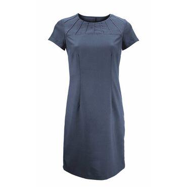 Alexandra Women's Satin Trim Dress - Charcoal