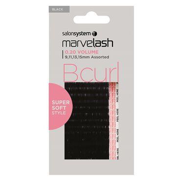 Marvelash B Curl Lashes 0.20 Assorted Black