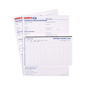 Sterex Electrolysis Treatment Record Cards