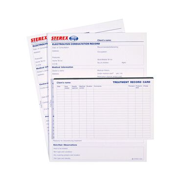 Sterex Treatment Cards | Electrolysis | Salon Services