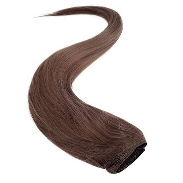 Wildest Dreams Clip In Half Head Human Hair Extension 18 Inch - 8 Cappuccino Brown