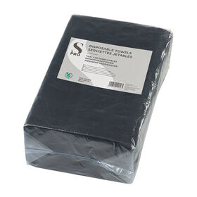 S-PRO Disposable Towels, Black, Pack of 50