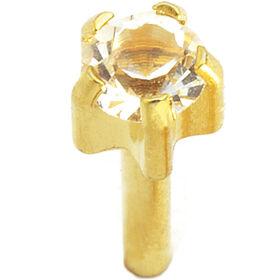 Caflon Regular Clawset Gold April Piercing Stud 1 pair