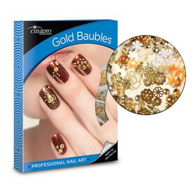 Cina Gold Baubles Nail Art Kit