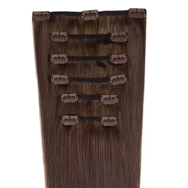 Wildest Dreams Clip In Half Head Human Hair Extension 18 Inch - 3 Chocolate Brown