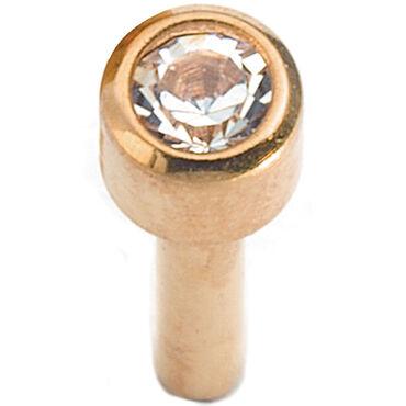 Caflon Mini Bezel Gold April Piercing Stud 12 pair pack