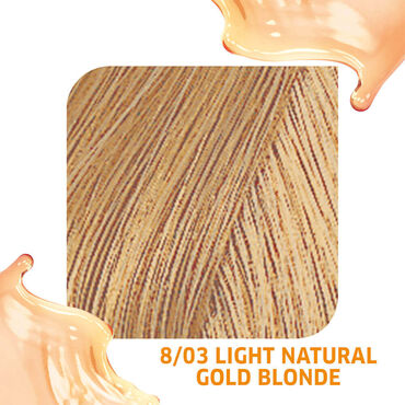 Wella Professionals Colour Fresh Semi Permanent Hair Colour - 8/03 Light Natural Gold Blonde 75ml