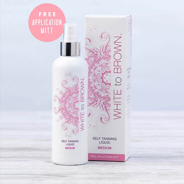 WHITE to BROWN Self Tanning Liquid Medium 250ml