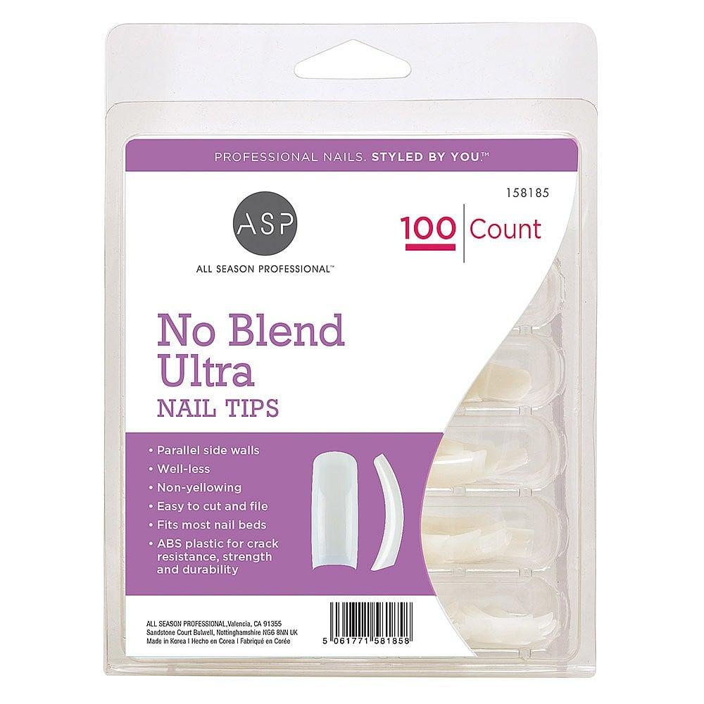 ASP No Blend Ultra Nail Tips Pack of 100   Nail Tips, Forms & Glue ...