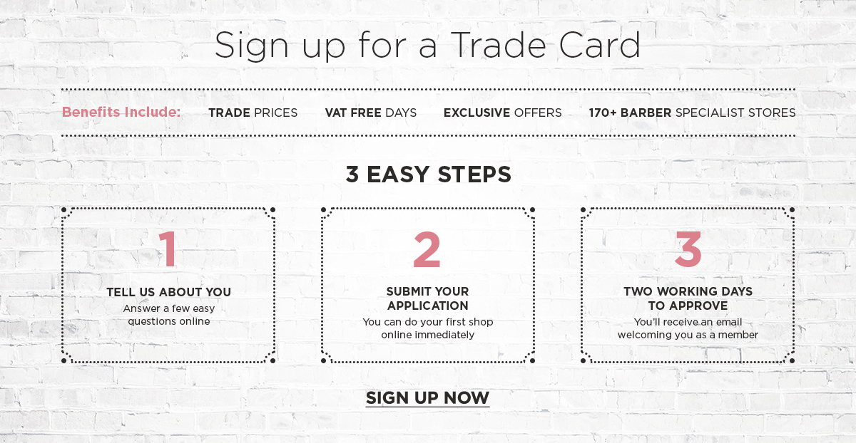 Sign up for a Trade Card today