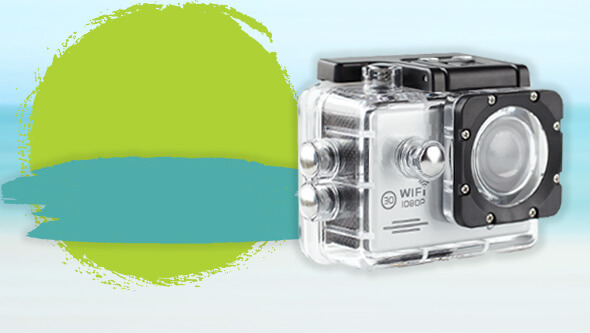 Free action camera when you spend £100 within selected brands
