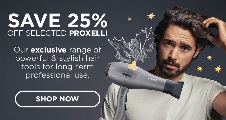 Save 25% off selected Proxelli lines. Our **exclusive** range of powerful & stylish hair tools for long-term professional use.